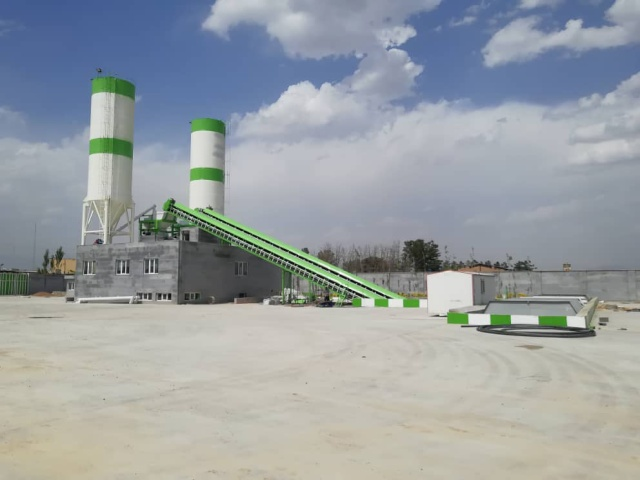 Duble Twin Shaft batching Plant